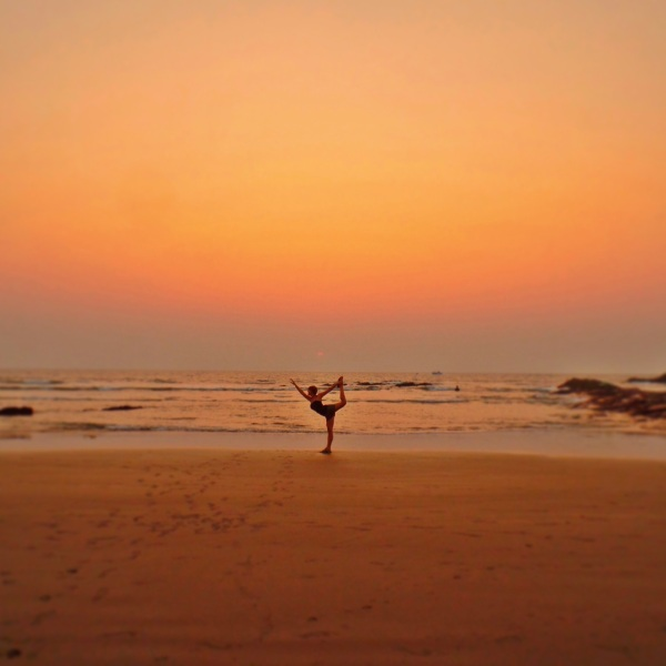 My sunset traveller pose
